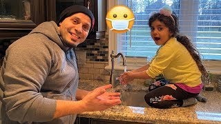 Sally and DAD - Story of how important to Wash hands