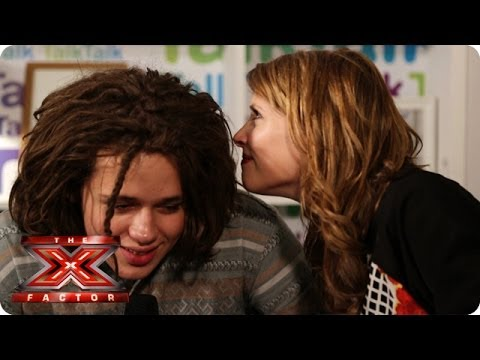 Luke Friend gives us a cheeky sniff of his hair - TalkTalk Backstage - The X Factor UK 2013
