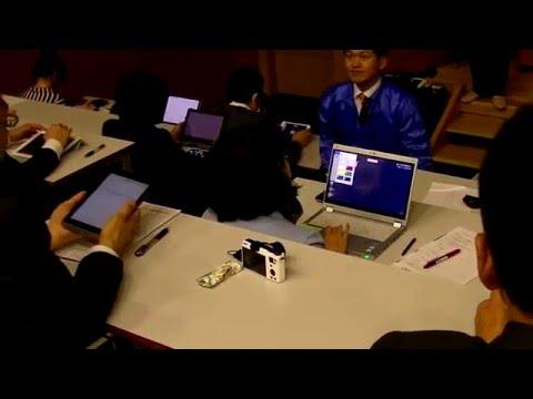 日本大学 食品ビジネス学科 スマホで一斉授業を双方向へ