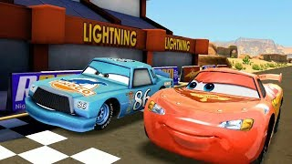 Dinoco Chick Hicks VS Lightning Mcqueen & Guido Disney CARS Racing Game Play