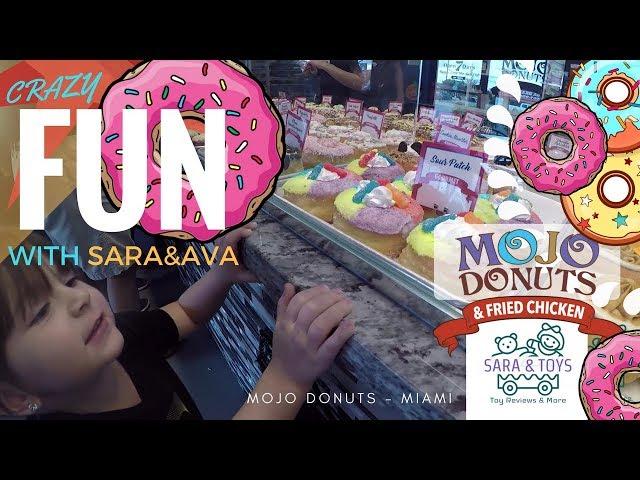 MOJO DONUTS!  BABIES GET A SUGAR RUSH! FUN & DELICIOUS! SARA AND TOYS