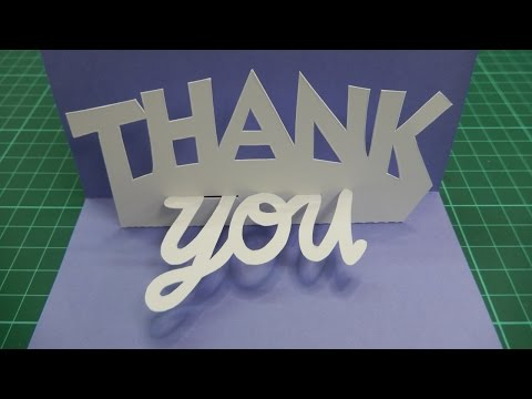 Pop Up Thank You Card Tutorial - 001