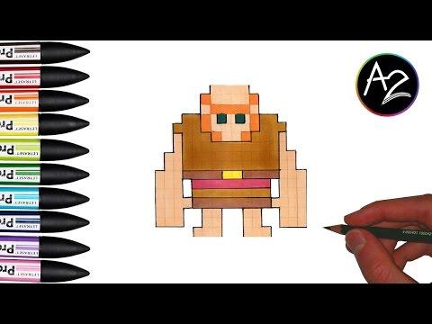 Pixel Art Geant De Clash Royale Dessin Facile Youtube