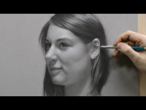 Time-lapse Portrait Drawing Demonstration By David