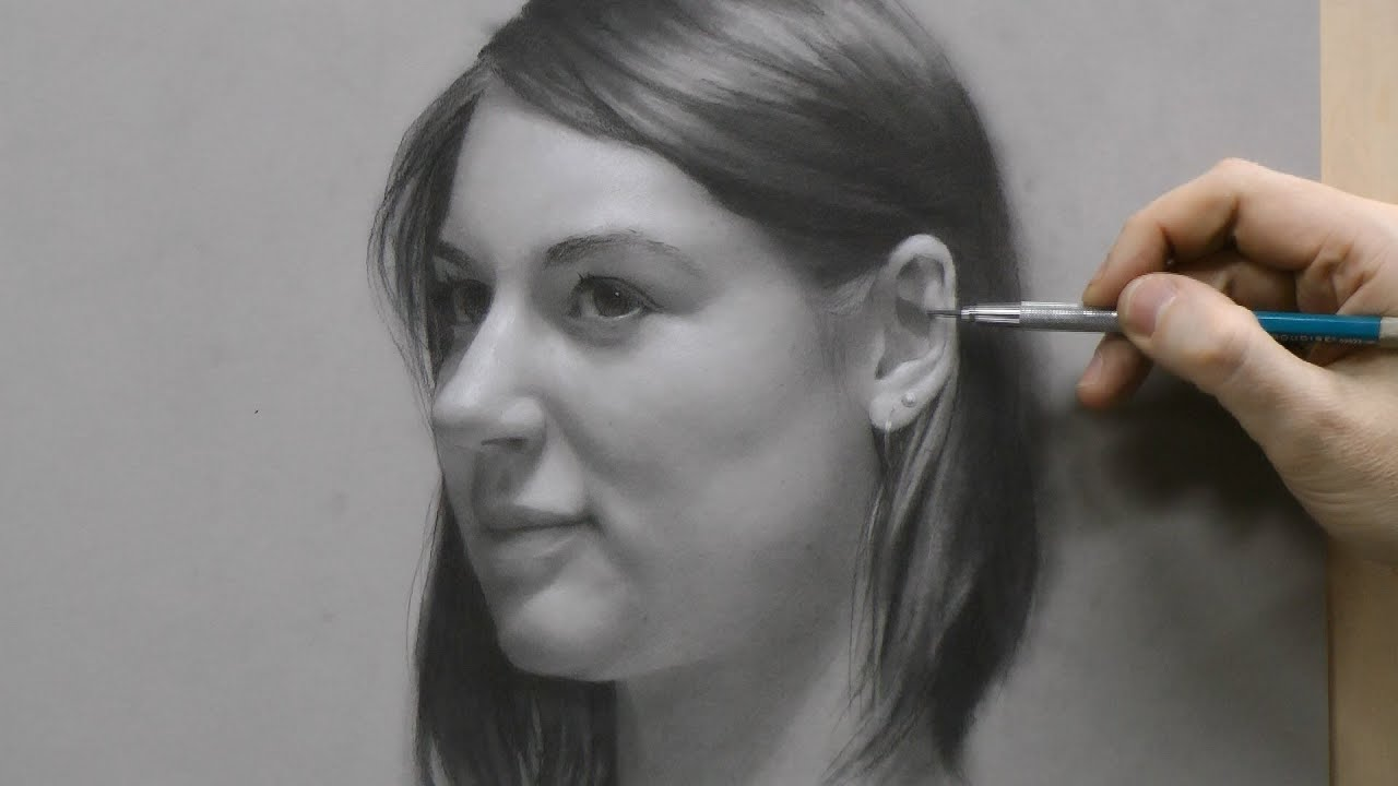 Time-lapse Portrait Drawing Demonstration by David Jamieson #2