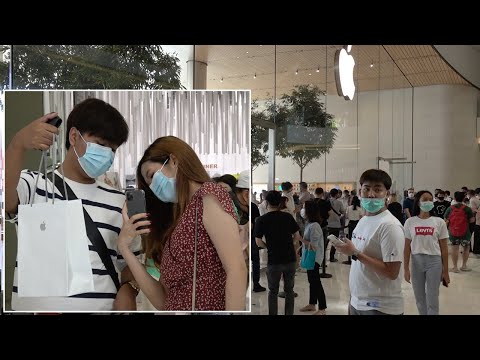 iPhone 12 Release Draws Crowds In Bangkok