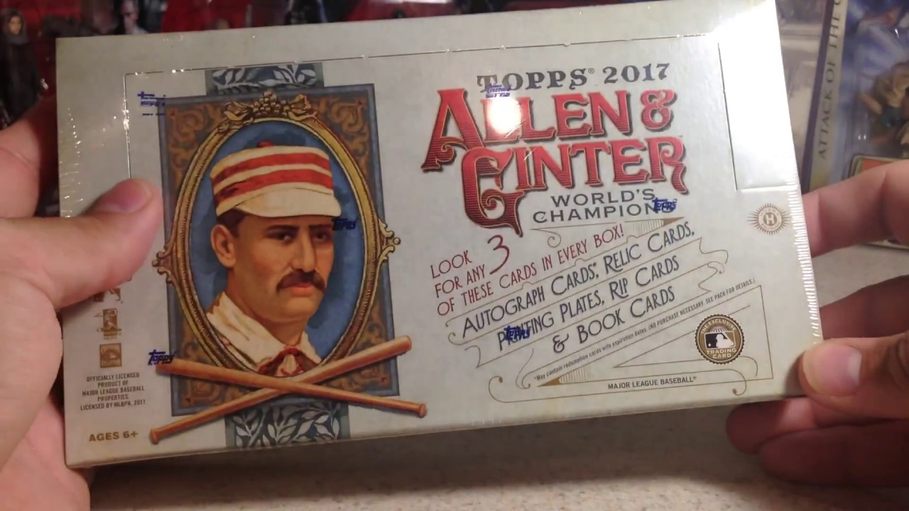 Opening Hobby Box 8 Of My Case Of 2017 Topps Allen Ginter Baseball Cards
