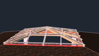 Зенитный фонарь 5000х5000мм (каркас)(Выполним 3D визуализацию сложных пространственных конструкций (зимние сады, зенитные фонари и т.д.). В масшта..., 2014-08-09T08:44:12.000Z)