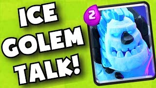 clash royale new ice golem card strategy discussion   best ice golem decks after new update