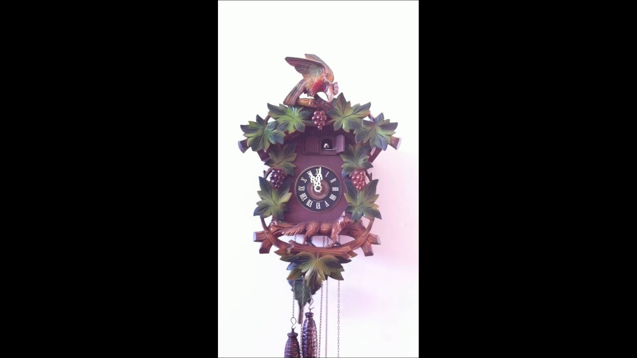 Colorful vintage musical cuckoo clock youtube - Colorful cuckoo clock ...