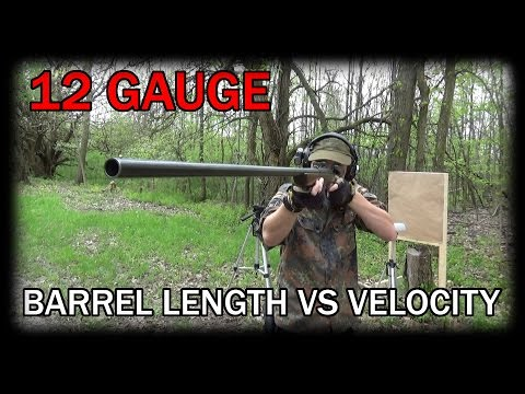 Shotgun Barrel Length vs Velocity