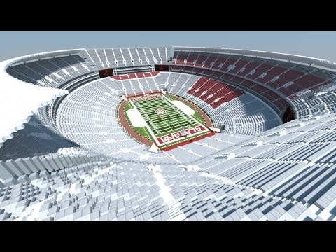Minecraft - MEGABUILD - BRYANT DENNY STADIUM (Alabama Crimson Tide)  [Official] +DOWNLOAD