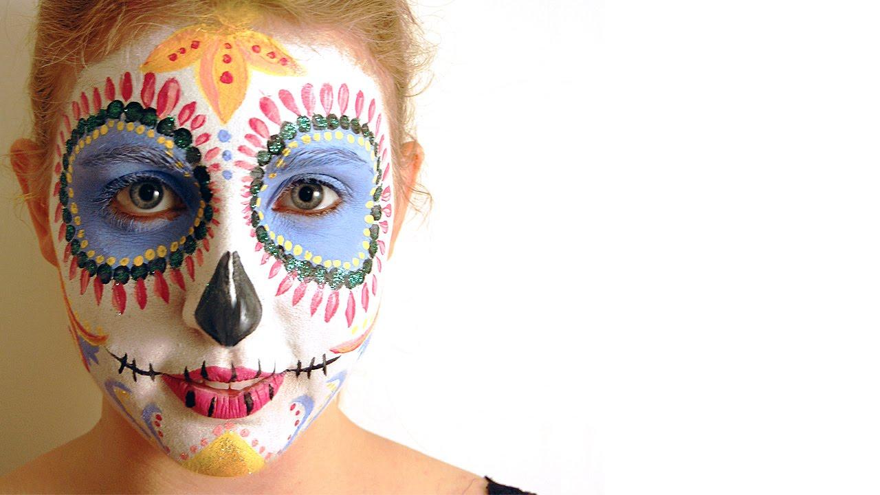 Sugar Skull Face Paint Tutorial | Hobbycraft - YouTube