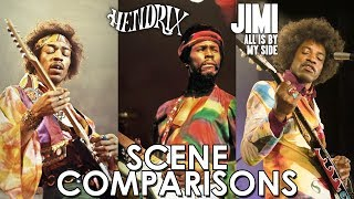 Hendrix (2000) and Jimi: All Is by My Side (2013) - scene comparisons