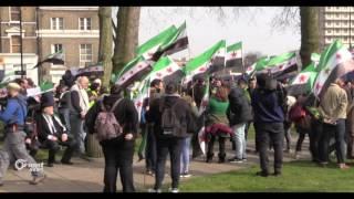السوريون في بريطانيا يحتفلون بأسبوع الحرية من أجل سوريا