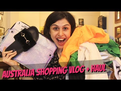 Australia Shopping Vlog + Haul!!! 👠👗🎒