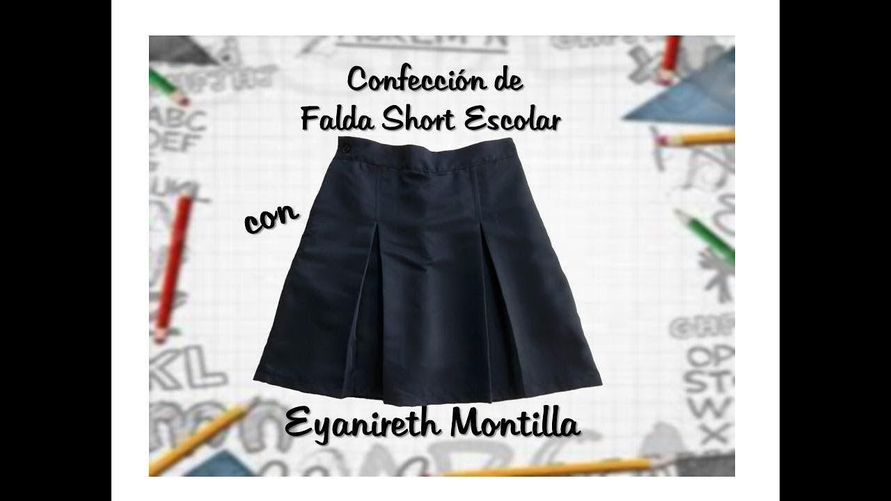 947ec9edc Confección de Falda Short Escolar