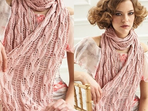 14 Drop Stitch Scarf Vogue Knitting Springsummer 2012 Youtube