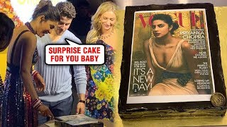 Nick Jonas SURPRISE CAKE For Priyanka Chopra Ft Vogue Cover 2018