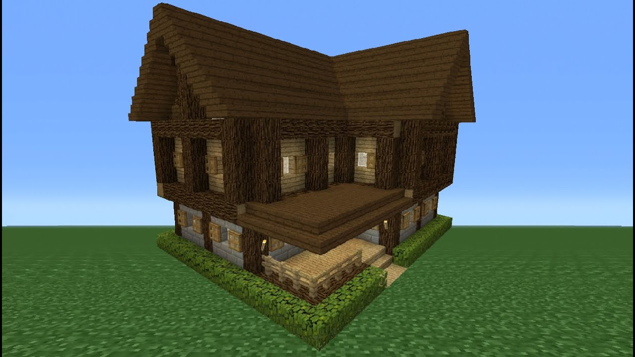 Minecraft tutorial how to make a small survival house 3 for How to build a small home
