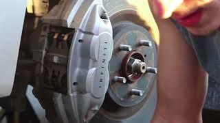 How To Change Brake Pads: Infiniti Q50s