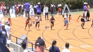 Haley Espinoza 100 meter WIN 6/1/13 Tommie Smith Berkeley Ca
