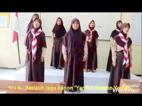 Berlatih Lagu Kanon - VIIB - Yamko Rambe Yamko