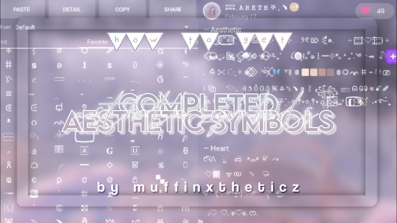 ᝬ ʬʬ. how to get aesthetic symbols ios & android eng/indo ...
