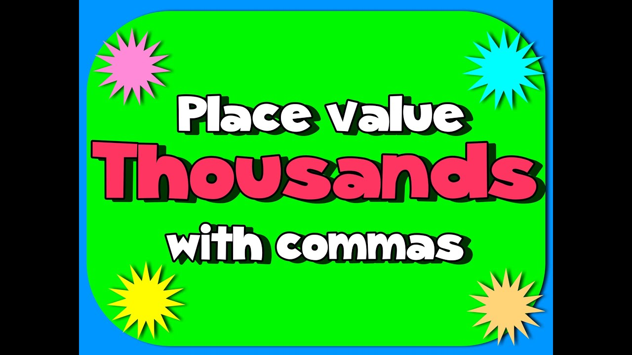 hight resolution of place value song to the thousands