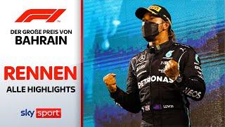 Hamilton siegt vor Verstappen! | Rennen - Highlights | Preis von Bahrain | Formel 1