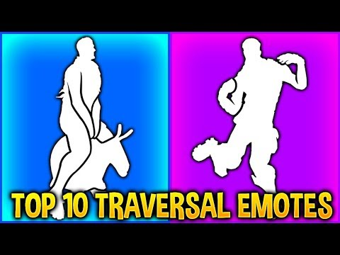 TOP 10 TRAVERSAL Emotes In Fortnite Battle Royale