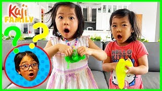 Who Knows Ryan better Emma or Kate while making DIY Satisfying Slime!