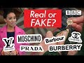 Tips for spotting genuine designer clothing | Fake Britain - BBC