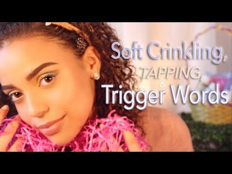 | ASMR | 🐰 TAPPING and SOFT CRINKLING and TRIGGER WORDS 🐰