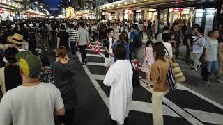 京都祇園祭 2019 先祭 宵山 四条通 西進 Kyoto Gion Matsuri Festival Shijo Street