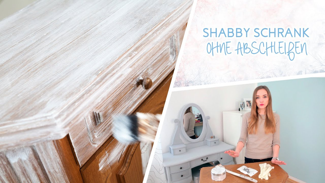 how to schrank im shabby chic stil streichen ohne abscheifen youtube. Black Bedroom Furniture Sets. Home Design Ideas