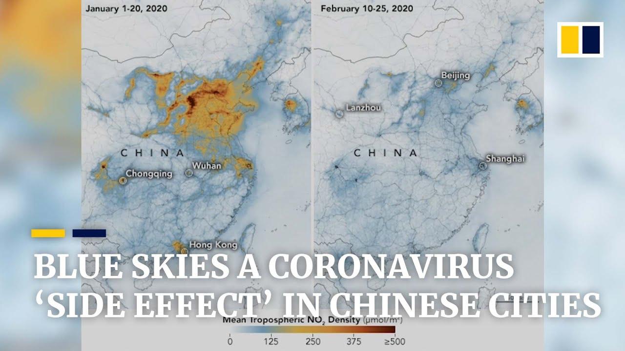 Coronavirus: blue skies over Chinese cities as Covid-19 lockdown ...