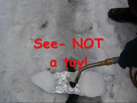 Ca not get any salt- use a torch to melt the ice! - Dealing with ice without resorting to ...