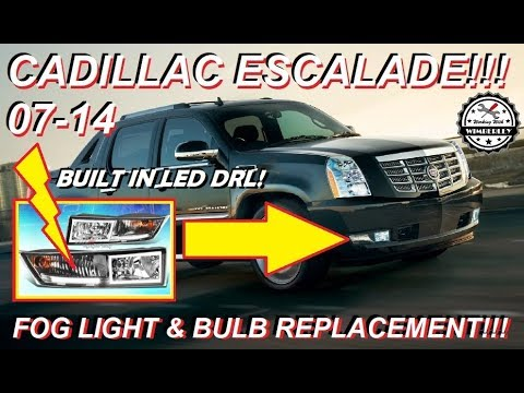 2007-2014 Cadillac Escalade Fog Light Replacement How-To Install Turn Signal Bulb & Wire LED DRL