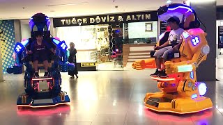 Kids Play with Remote Control GIANT ROBOTS - Robots That You Can Sit-in and Play