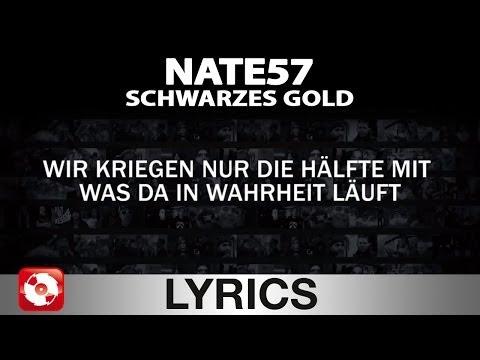 NATE57 - SCHWARZES GOLD - AGGROTV LYRICS KARAOKE (OFFICIAL VERSION)