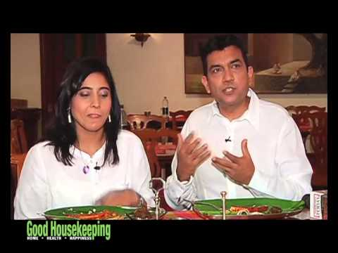 Sanjeev Kapoor in a light mood with his wife...
