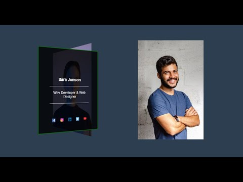 Create Image Hover effect with Vertical Rotating HTML CSS
