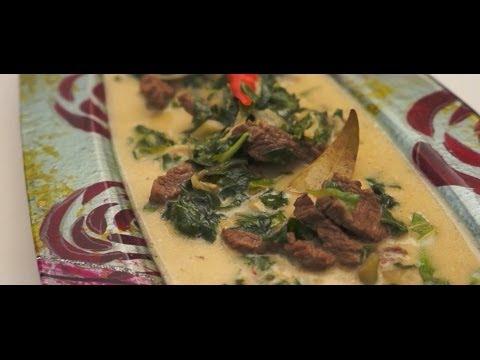 Paano magluto Ginataang Dahon ng Gabe at Baka Recipe - Tagalog Pinoy Filipino Beef