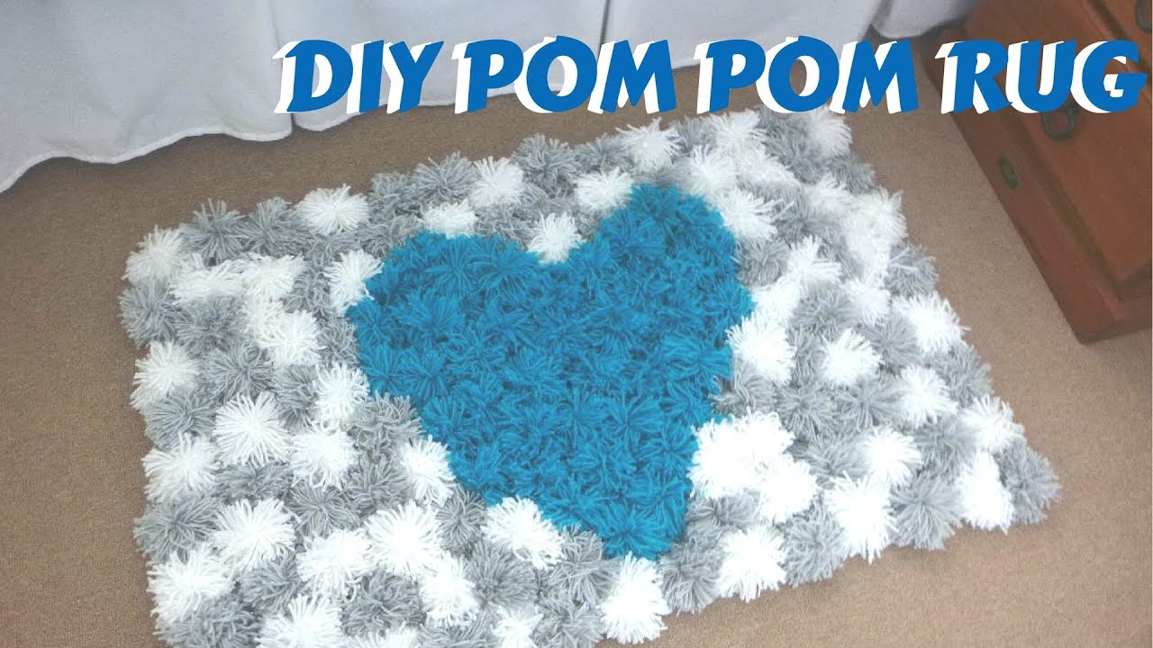 Diy Pom Rug Bedroom Decor Tutorial