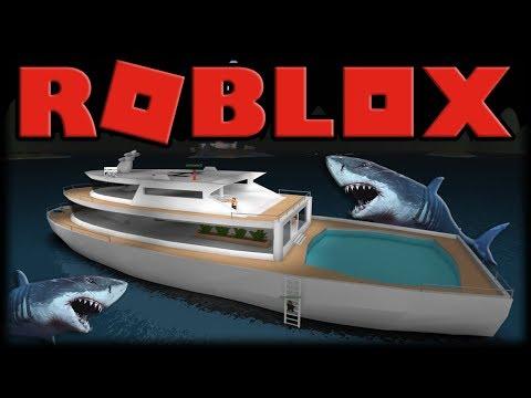 Jogando Roblox - Comprando o Maior Barco Contra Tubarões!!