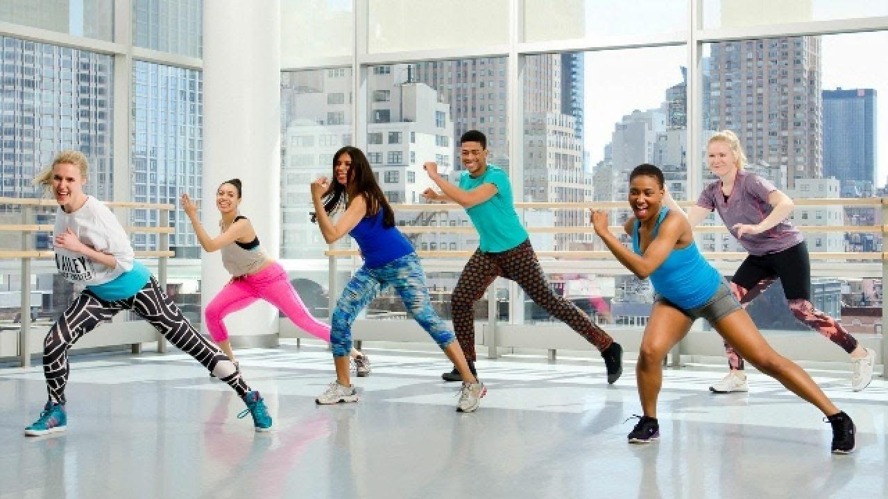 A group in an aerobics class