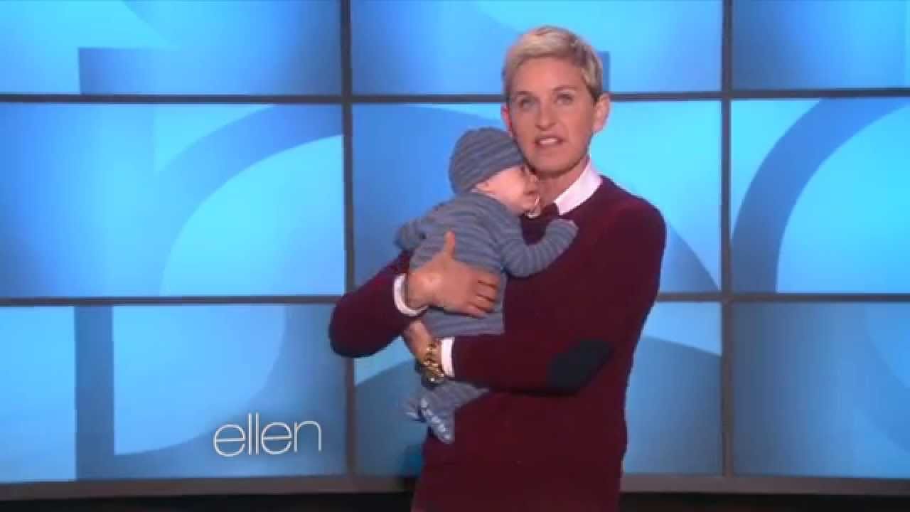 ellen degeneres getting cozy with a newborn youtube