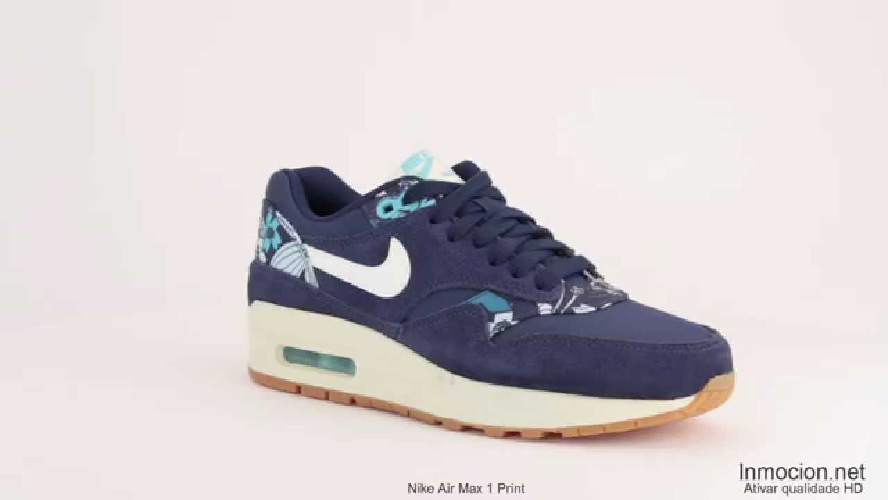 nike air max 1 with floral prints