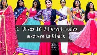 Wedding Hacks | Ethnic Fashion Hacks you must try | 1 Dress 10 Ethnic ways | Aanchal